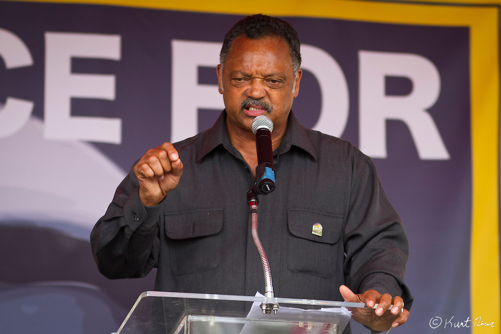 March 31, 2012 - Sanford, Florida, U.S. - JESSE JACKSON speaks at the rally in Sanford, Florida for the justice of Treyvon Martin.