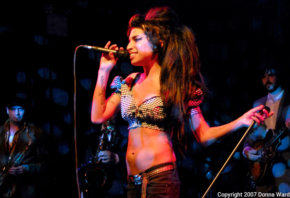 NEW YORK - MAY 8: Singer Amy Winehouse performs at The Highline Ballroom in midtown on May 8, 2007 in New York City.