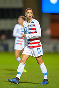 Alex Morgan (#13) (Orlando Pride) of the USA during the Women's International Friendly match between Scotland Women and USA at the Simple Digital Arena, Paisley, Scotland on 13 November 2018.