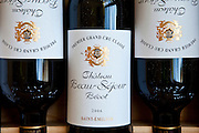 Fine wine Chateau Beau-Sejour Becot 2006 vintage Premier Grand Cru Classe at St Emilion in the Bordeaux wine region of France