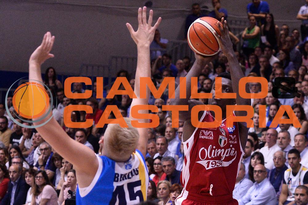 Abass Awudu<br /> Betaland Capo D'Orlando - EA7 Emporio Armani Olimpia Milano<br /> Playoff Gara 4<br /> Lega Basket 2016/2017<br /> Capo D'Orlando 18/05/2017<br /> Foto Ciamillo-Castoria
