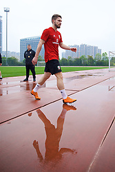 NANNING, CHINA - Saturday, March 24, 2018: Wales' Tom Bradshaw during a training session at the Guangxi Sports Centre ahead of the 2018 Gree China Cup International Football Championship final match against Uruguay. (Pic by David Rawcliffe/Propaganda)