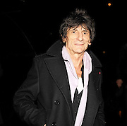 20.NOVEMBER.2012. LONDON<br /> <br /> RONNIE WOOD LEAVING THE DORECHESTER HOTEL AFTER ATTENDING THE AMY WINEHOUSE FOUNDATION BALL.<br /> <br /> BYLINE: EDBIMAGEARCHIVE.CO.UK<br /> <br /> *THIS IMAGE IS STRICTLY FOR UK NEWSPAPERS AND MAGAZINES ONLY*<br /> *FOR WORLD WIDE SALES AND WEB USE PLEASE CONTACT EDBIMAGEARCHIVE - 0208 954 5968*