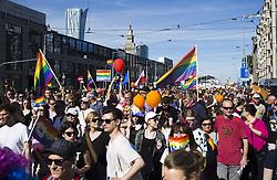 June 3, 2017 - Warsaw, Poland - People during 17th Equality Parade (Parada Rownosci) in Warsaw on June 3, 2017. (Credit Image: © Krystian Dobuszynski/NurPhoto via ZUMA Press)