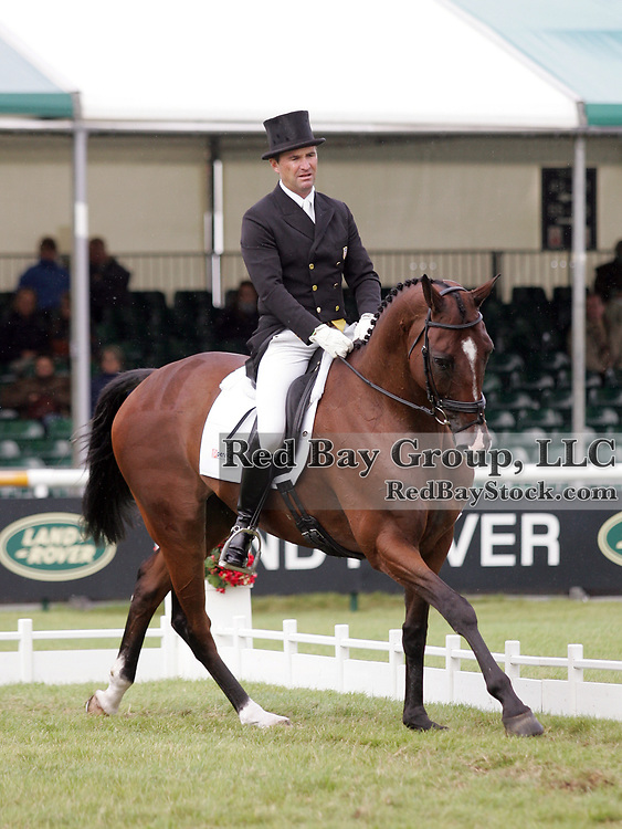 Phillip Dutton (USA) and Truluck at the 2011 Land Rover Burghley Horse Trials in Stamford, UK.