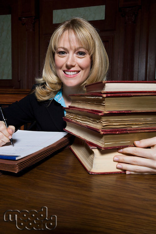 Woman working in court, portrait