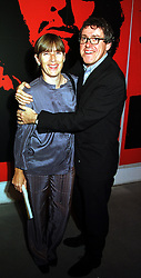 MR & MRS GRIFF RHYS-JONES he is the comedian, at an exhibition in London on 1st November 1999.MYK 32