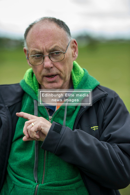 Pictured: Ian Baxter<br /> <br /> The Scottish Green Party's Andy Wightman, MSP, joined local election candidate Ian Baxter at the proposed site of a new film studio in Edinburgh ahead of the local council elections.<br /> Ger Harley | EEm 17 April 2017