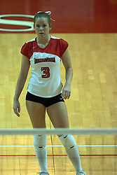 22 October 2006: Kelly Waterstraat. Illinois State University swept Evansville in 3 straight games of a best of 5 match. The Evansville Purple Aces met the Redbirds of Illinois State at Redbird Arena on the campus of Illinois State University in Normal Illinois.<br />
