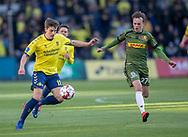 FODBOLD: Mikael Uhre (Brøndby IF) og Mikkel Damsgaard (FC Nordsjælland) under kampen i Superligaen mellem Brøndby IF og FC Nordsjælland den 13. maj 2019 på Brøndby Stadion. Foto: Claus Birch.