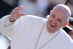 May 1,  2019  - Holy See, Vatican - POPE FRANCIS during his Wednesday general audience in St. Peter's Square at the Vatican. (Credit Image: © Evandro Inetti/ZUMA Wire)