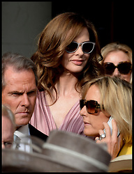 Trinny Woodall at the wedding of Poppy Delevingne to James Cook at St.Paul's Church in Knightsbridge, London,  Friday, 16th May 2014. Picture by Andrew Parsons / i-Images