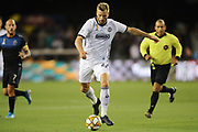 Philadelphia Union forward Kacper Przybylko (23) attacks during an MLS soccer match. Philadelphia defeated the San Jose Earthquakes 2-1,  Wednesday, Sept. 25, 2019, in San Jose, Calif. (Peter Klein/Image of Sport)
