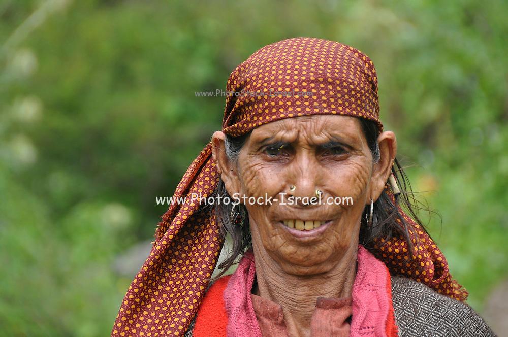 Headshot of a Rajasthani Woman. Photographed near Udaipur Rajasthan, India