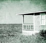 Cottege overlooking Wellfleet harbor, Cape Cod