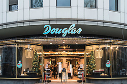 Douglas store on famous Kurfurstendamm shopping street in Berlin, Germany.