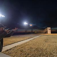shooting shotgun sporting clays at night