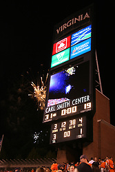 Fireworks celebrate a Virginia Football victory against WMU.  The Virginia Cavaliers defeated the Western Michigan Broncos 31-19 on September 3, 2005 at Scott Stadium in Charlottesville, VA.