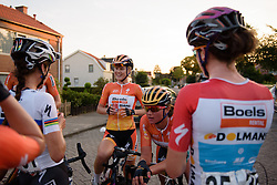 Amalie Dideriksen (Boels Dolmans) celebrates the win with her teammates at the 103 km Stage 1 of the Boels Ladies Tour 2016 on 30th August 2016 in Tiel, Netherlands. (Photo by Sean Robinson/Velofocus).