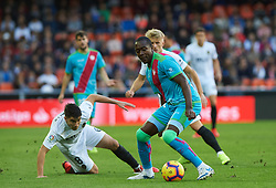 November 24, 2018 - Valencia, Valencia, Spain - Carlos Soler of Valencia CF and Giannelli Imbula of Rayo Vallecano during the La Liga match between Valencia CF and Rayo Vallecano at Mestalla Stadium on November 24, 2018 in Valencia, Spain (Credit Image: © AFP7 via ZUMA Wire)