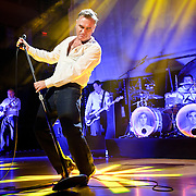 "BETHESDA, MD, DC - January 16th, 2013 - British music legend Morrissey (front) performs at the Strathmore Music Hall with Boz Boorer, Solomon Walker and Anthony Burulcich. His set included solo hits like ""Everyday Is Sunday"" as well as material from The Smiths, such as ""Still Ill.""( Photo by Kyle Gustafson/For The Washington Post)"