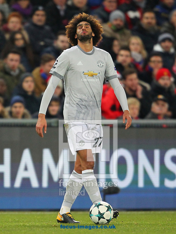 Marouan Fellaini of Manchester United during the UEFA Champions League match at St. Jakob-Park, Basel<br /> Picture by Yannis Halas/Focus Images Ltd +353 8725 82019<br /> 21/11/2017