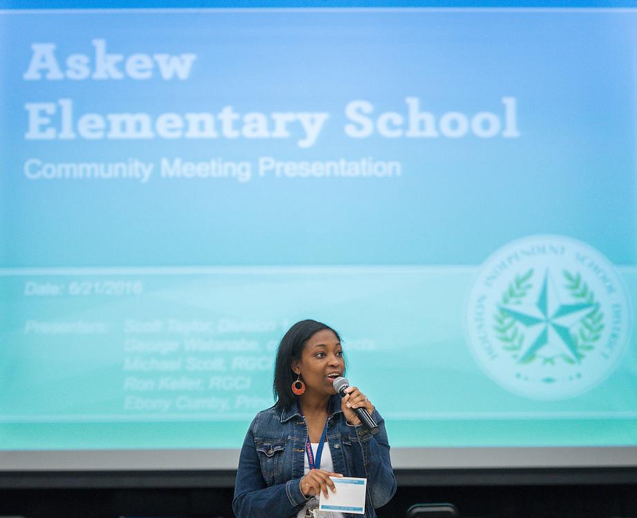 Bond community meeting at Askew Elementary School, June 21, 2016.
