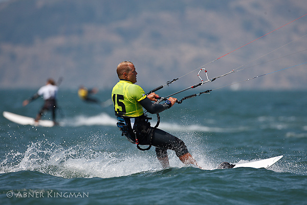 2009 Kiteboard Course Racing World Championships, San Francisco Bay, August 4-8, kites on the Crissy Field Beach