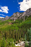 Camp Bird Road (jeep road between Ouray and Yankee Boy Basin), Colorado USA