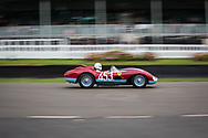 A vintage racing car takes part in the Official practice run for the Sussex Trophy at the Goodwood Revival in Chichester, England Friday, Sept. 9, 2016 The historic motor racing festival celebrates the mid-20th-century golden era of the racing circuit and recreates the atmosphere from the 1950s and 1960s.(Elizabeth Dalziel)