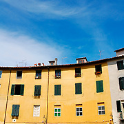 View of building at Lucca's old town