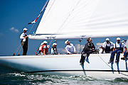 Columbia sailing in the Nantucket 12 Meter Class Regatta.