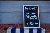 Cafe sign for breakfast - Street scenes from Stockholm