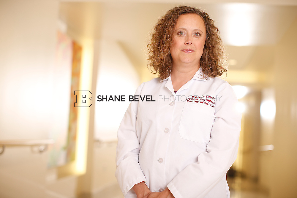 5/28/15 4:25:52 PM -- Dr. Renee Frenier of Saint Francis Health System poses for a portrait for the 2015 Advertising Campaign. <br /> <br /> Photo by Shane Bevel
