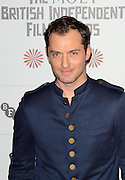 09.DECEMBER.2012. LONDON<br /> <br /> JUDE LAW ATTENDS THE BRITISH INDEPENDENT FILM AWARDS AT OLD BILLINGSGATE MARKET. <br /> <br /> BYLINE: JOE ALVAREZ/EDBIMAGEARCHIVE.CO.UK<br /> <br /> *THIS IMAGE IS STRICTLY FOR UK NEWSPAPERS AND MAGAZINES ONLY*<br /> *FOR WORLD WIDE SALES AND WEB USE PLEASE CONTACT EDBIMAGEARCHIVE - 0208 954 5968*
