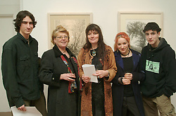 Pictured at the opening of an exhibition by Karen Spence at the Custom House Studio Gallery were Daniel McLarnon, Margaret Wilson, Karen Spence, Emily McLarnon and Peter McLarnon. The exhibition runs until March the 14th.