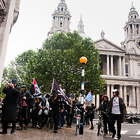 London, UK - 15 June 2012: protesters in front on St. Paul's Cathedral during the Carnival of Dirt. More than 30 activist groups from London and around the world have come together to highlight the illicit deeds of mining and extraction companies.