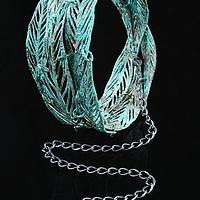 Jewelry on black background