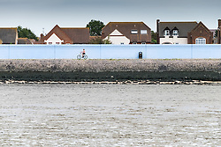 The sea wall at Canvey Island, Essex.