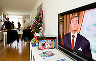 ARNHEM - Christmas speech of King  Willem Alexander on the dutch television  . COPYRIGHT ROBIN UTRECHT