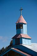Steeple on chapel, Chiloe Island, Chile
