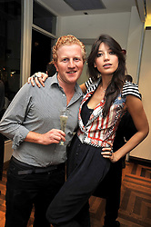 DAISY LOWE and LUKE BLACKALL at a party hosted by Petra Ecclestone at Matches, 87 Marylebone High Street, London on 7th September 2009.