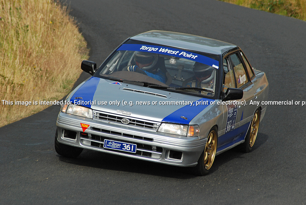 361 Gary Morgan & Richard Skilton..1990 Subaru Legacy RSR.Day 2.Targa Wrest Point 2010.Southern Tasmania.31st of January 2010.(C) Sarah Biggin.Use information: This image is intended for Editorial use only (e.g. news or commentary, print or electronic). Any commercial or promotional use requires additional clearance.