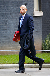 © Licensed to London News Pictures. 27/01/2015. LONDON, UK. Culture Secretary Sajid Javid attending to a cabinet meeting in Downing Street on Tuesday, 27 January 2015. Photo credit: Tolga Akmen/LNP