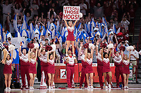 FAYETTEVILLE, AR - DECEMBER 9:  Cheerleaders of the Arkansas Razorbacks performs during a game against the Minnesota Golden Gophers at Bud Walton Arena on December 9, 2017 in Fayetteville, Arkansas.  The Razorbacks defeated the Golden Gophers 95-79.  (Photo by Wesley Hitt/Getty Images) *** Local Caption ***