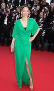 """Carmen Chaplin walks the red carpet in Cannes, France for the premiere of Roman Polanski film """"Venus in Fur"""" on May 25th 2013"""