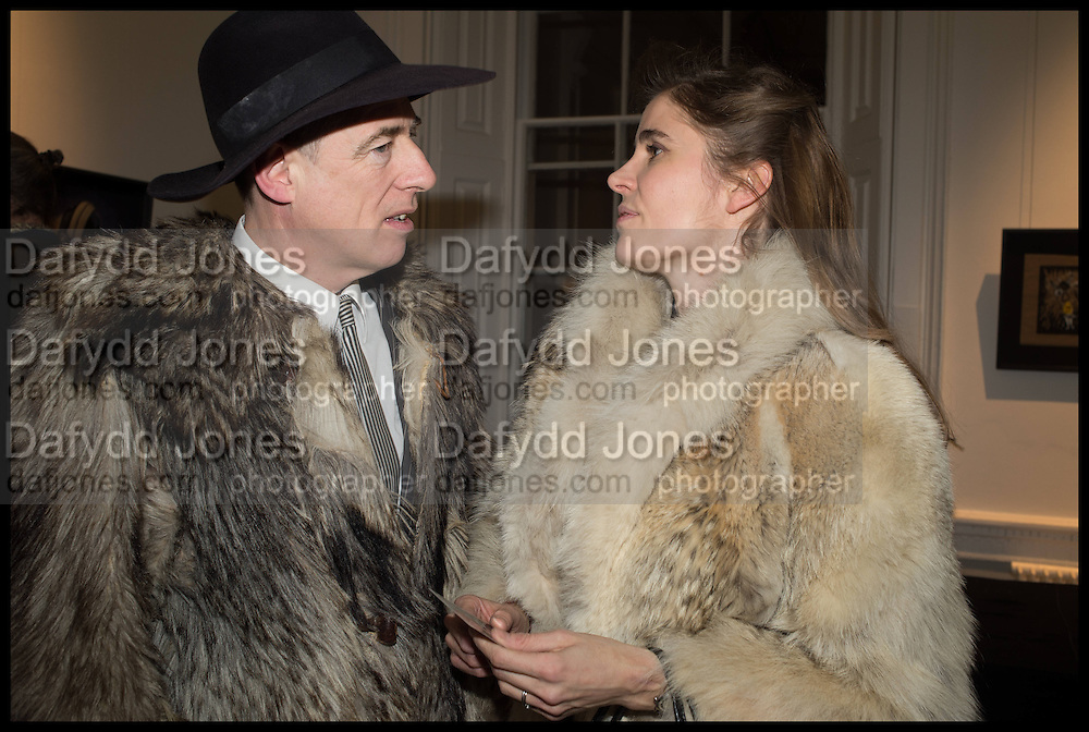 GAZ MAYALL; ELINOR FAHRMAN, Private view, Paul Simonon- Wot no Bike, ICA Nash and Brandon Rooms, London. 20 January 2015