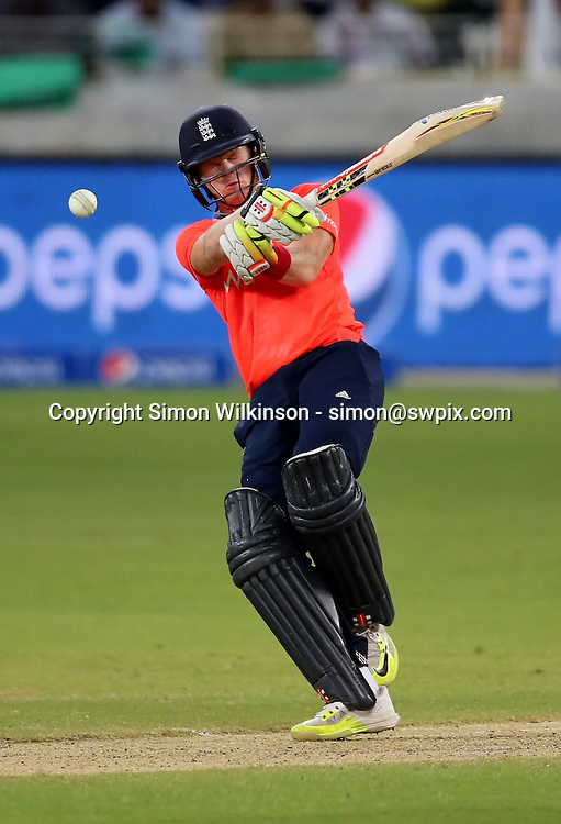 PICTURE BY MARK GREEN/SWPIX.COM  Pakistan v England 1st T20, Dubai Internayional Stadium, UAE, 26/11/15 <br /> England's Captain Eoin Morgan in his not out innings of 45
