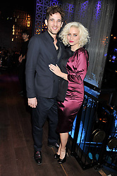 MAX ROGERS and KIMBERLY WYATT at the ZEO 'Just January' Party held at the Buddha Bar, 145 Knightsbridge, London SW1 on 31st January 2013.