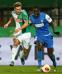 07.11.2013, Ernst Happel Stadion, Wien, AUT, UEFA Europa League, SK Rapid Wien vs KRC Genk, Gruppe G, im Bild Guido Burgstaller, (SK Rapid Wien, #30) und Serigne Mbodji, (KRC Genk, #2) // during a UEFA Europa League group G game between SK Rapid Vienna and KRC Genk at the Ernst Happel Stadion, Wien, Austria on 2013/11/07. EXPA Pictures © 2013, PhotoCredit: EXPA/ Thomas Haumer